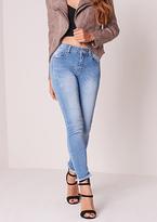 Missy Empire Natasha Vintage Wash Raw Hem Ankle Grazer Skinny Jeans