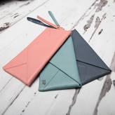 NV London Calcutta Personalised Envelope Leather Purse / Mini Clutch