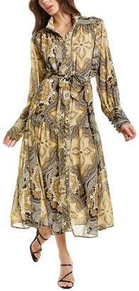 Beulah Tie-Sash Maxi Dress