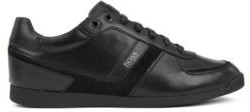 HUGO BOSS Low-profile leather trainers with bamboo-charcoal lining