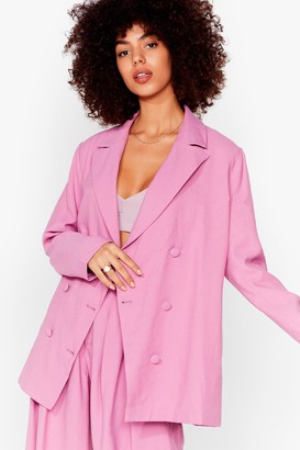 Nasty Gal Womens Business as Usual Suit Jacket - Washed Purple
