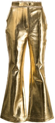 Alice McCall Cool Cat metallic-effect trousers