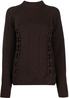 Versace Pre-Owned 2000s Open-Knit Wool Jumper