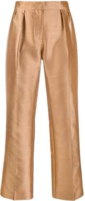 Max Mara Shiny Cropped Trousers