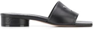 Maison Margiela Contrasting Stitching Square-Toe Sandals