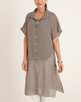 Chico's Marla Wynne for Chiffon Tie-Front Tunic