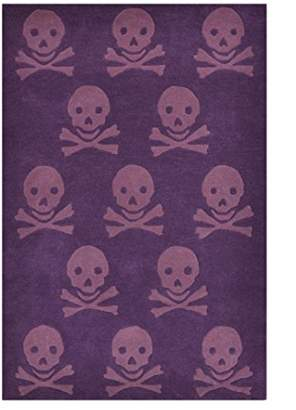 Lorena Canals Wool Rug Skulls (Wine)