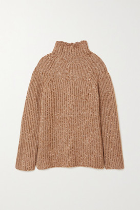 By Malene Birger Atuna Ribbed Melange Wool-blend Turtleneck Sweater