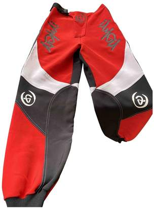 I.AM.GIA Red Polyester Trousers