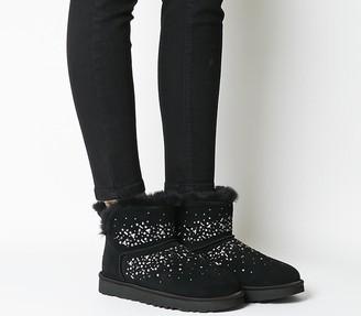 UGG Classic Galaxy Bling Mini Boots Black