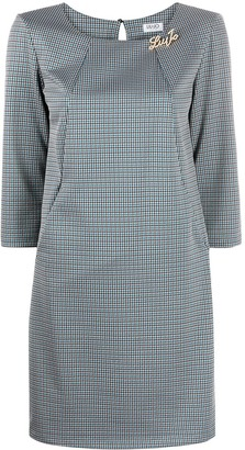 Liu Jo Logo-Plaque Check Mini Dress