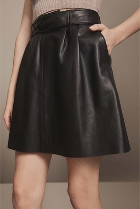 Witchery Lou Leather Skirt