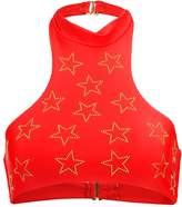 Beach Riot ELLE Bikini top red