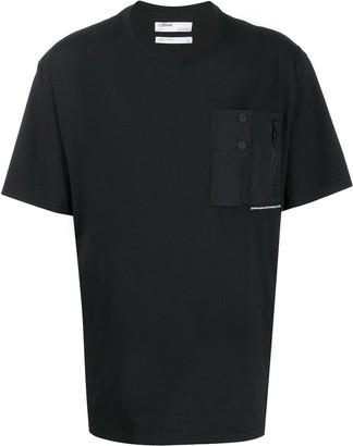 C2H4 oversized patch-pocket T-shirt