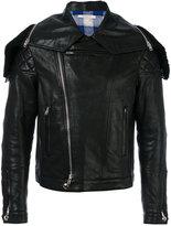 Givenchy hooded jacket - men - Cotton/Lamb Skin/Polyester/Viscose - 52