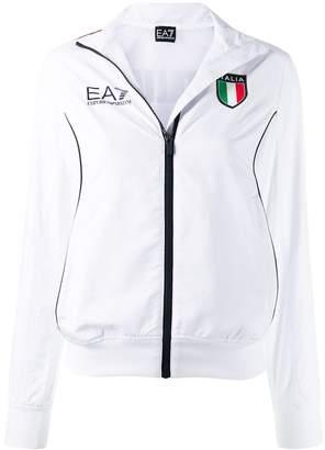 Emporio Armani Ea7 Italia print jacket