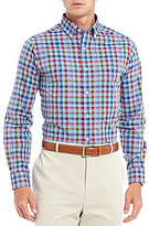 Daniel Cremieux Signature Slim-Fit Check Heather Poplin Long-Sleeve Woven Shirt