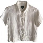 Hobbs Ecru Linen Top for Women