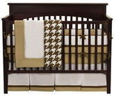 Metro Khaki, White & Chocolate 4pc Crib Bedding Set