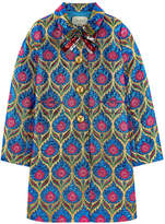 Gucci Jacquard knit coat with lurex
