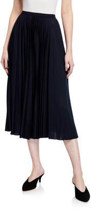 Max Mara Leisure Pleated Jersey Midi Skirt