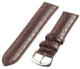 Republic Men's Alligator Grain Leather Watch Strap 22mm Regular Length, Brown