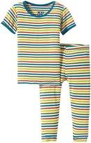 Kickee Pants Print Pajama Set (Baby) - Fantasy Stripe - 3-6 Months