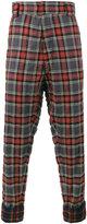 Haider Ackermann Tartan Cuff Detail Trousers