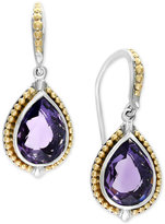 Effy Balissima Amethyst Teardrop Earrings (4-7/8 ct. t.w.) in Sterling Silver and 18k Gold