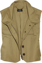 Flak trench cotton-twill vest