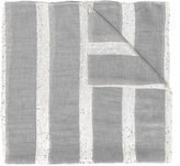 Eleventy glitter striped scarf - women - Polyamide/Polyester/Modal/Viscose - One Size
