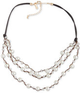 INC International Concepts Robert Rose for Imitation Pearl Multi-Row Necklace, Only at Macy's