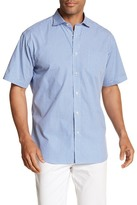 Thomas Dean Michrocheck Short Sleeve Regular Fit Shirt