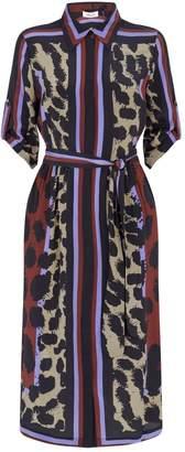 Diane von Furstenberg Sogol Silk Printed Midi Dress