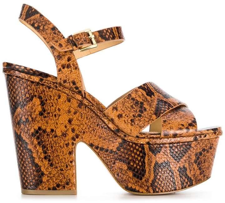 MICHAEL Michael Kors snake-effect platform sandals