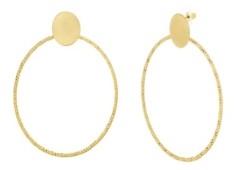 Catherine Malandrino Women's Polished Circle Yellow Gold-Tone Hoop Earrings