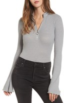 Somedays Lovin Women's Starcrossed Lovers Half Zip Bodysuit