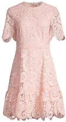 Shoshanna Kiera Lace Fit & Flare Dress