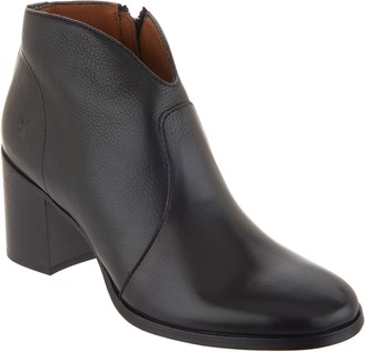 Frye Leather Ankle Boots - Nora Zip Short