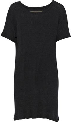 Enza Costa Melange Ribbed-knit Mini Dress