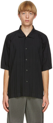 Homme Plissé Issey Miyake Black Edge Short Sleeve Shirt