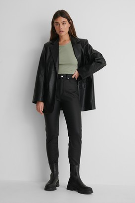NA-KD Coated Tight Fit Jeans