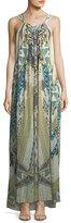 Camilla Sleeveless Printed Silk Maxi Dress