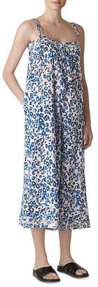 Whistles Animal-Print Beach Jumpsuit
