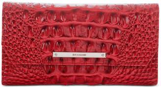 Brahmin Soft Checkbook Carnation Melbourne Embossed Leather Wallet-