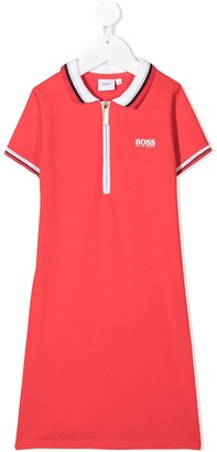 Boss Kidswear Polo Shirt Dress