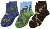 Jefferies Socks Dino Triple Treat 3-Pack Boys Shoes