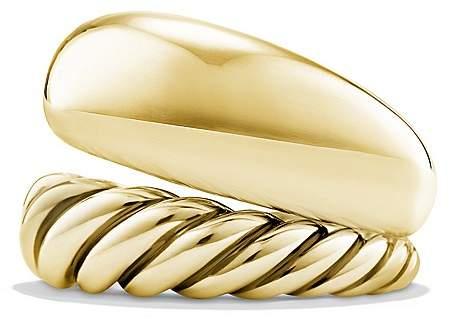 David Yurman Pure Form Two Row Ring in 18K Gold