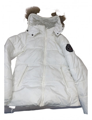 Bel Air White Polyester Coats