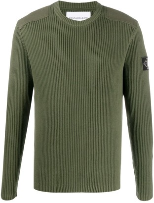 Calvin Klein Jeans Ribbed Logo Patch Jumper